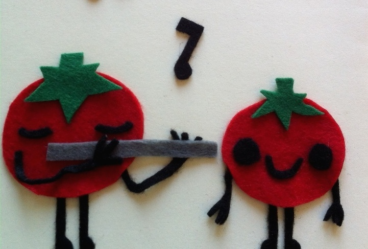 Fluitende tomaten
